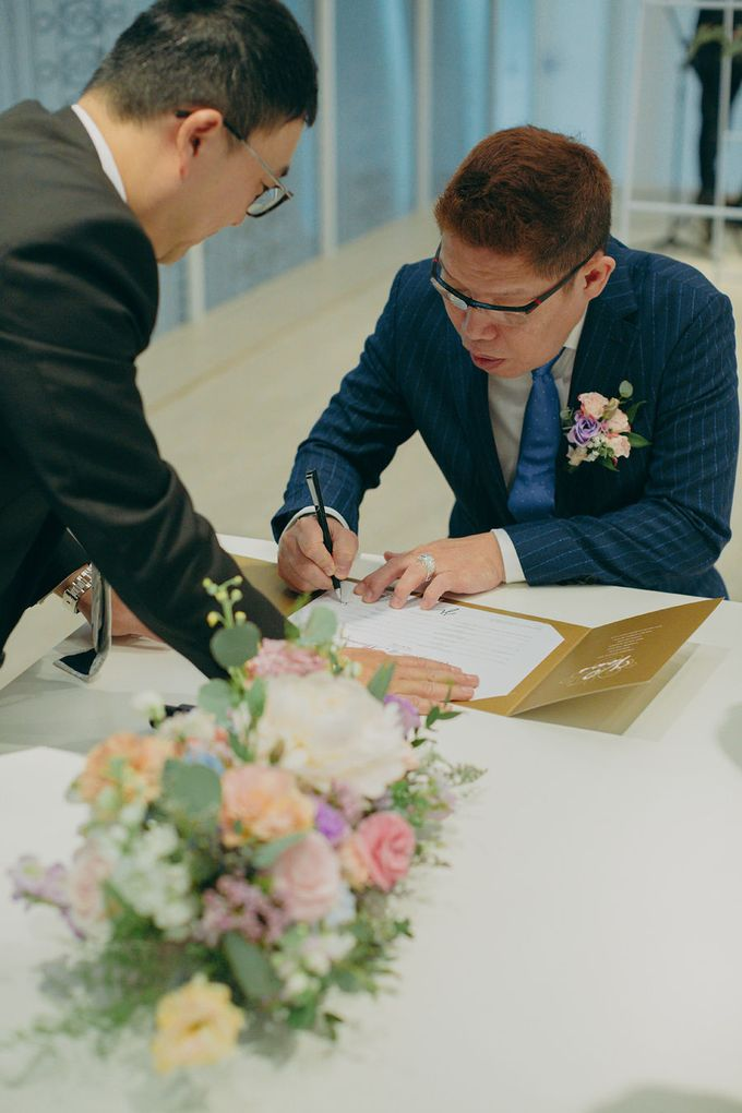 Pastel Rustic wedding ceremony at Imaginarium The Chapel by Eufloria - 039