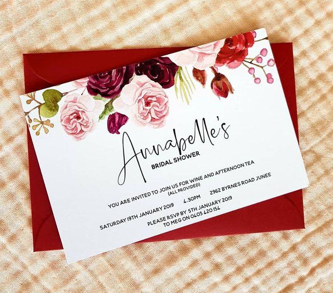 Pink & Burgundy Florals by Amanda Riley Creative - 001
