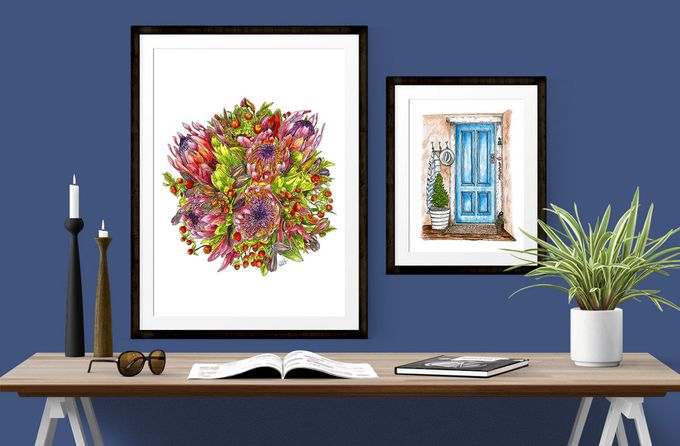 Custom Bridal Bouquet Paintings  by Down Ellis Lane - Art By Dianne White - 004