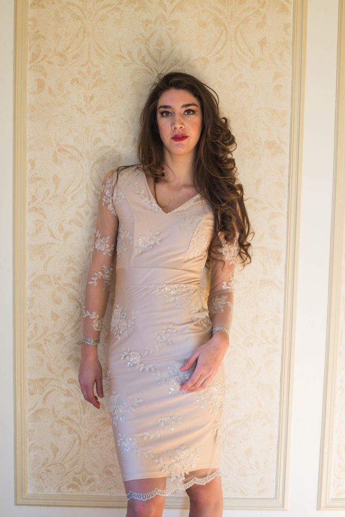 'Amarilia' Embellished Dress by Ariti Kaziris - 002