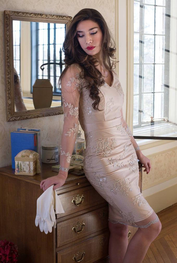'Amarilia' Embellished Dress by Ariti Kaziris - 001