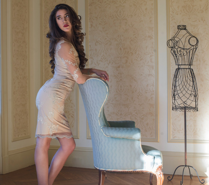 'Amarilia' Embellished Dress by Ariti Kaziris - 003