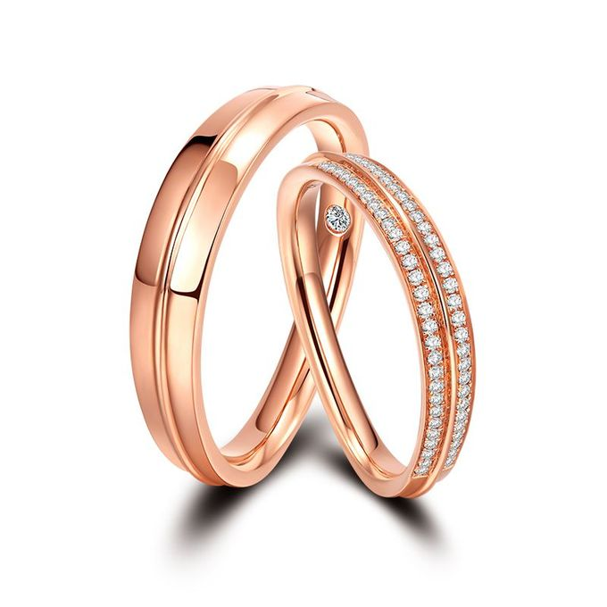 Tiaria Arlene de Grace Diamond Ring Perhiasan Cincin Pernikahan Emas dan Berlian by TIARIA - 003