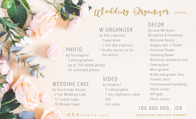 Wedding Organizer Package by ASA organizer - 001