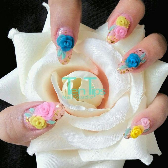 Wedding Nails by Ten Tips Nail Studio - 009