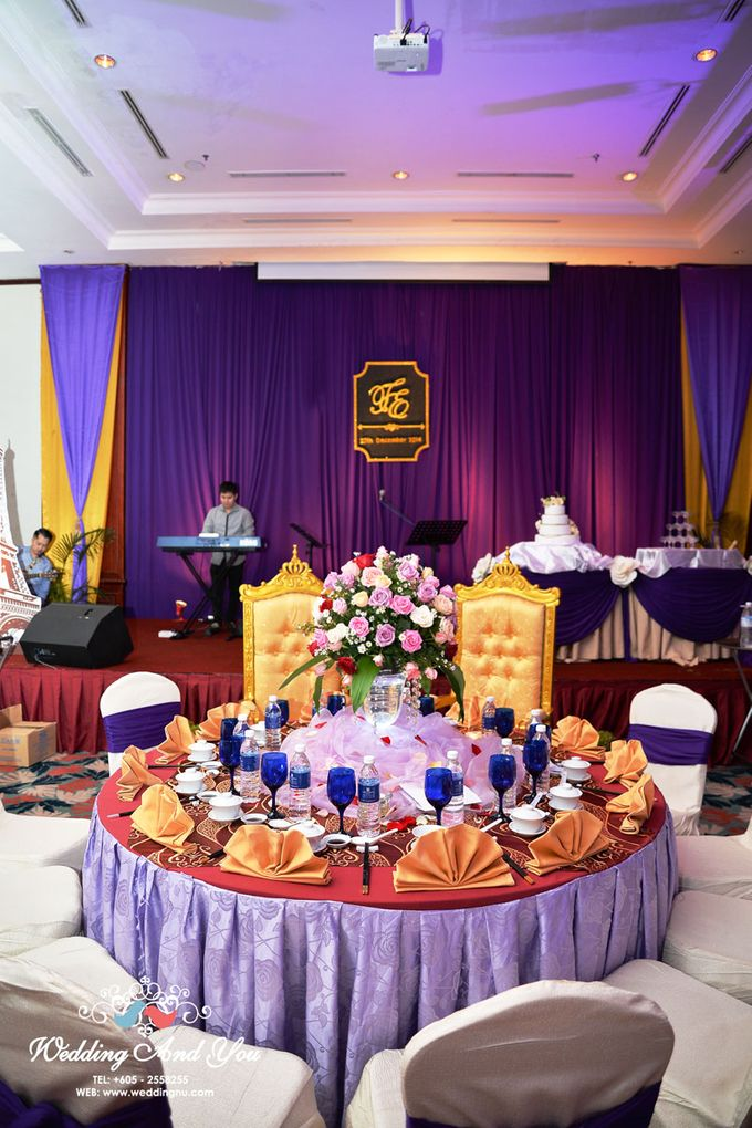 Stage Backdrop Design by Wedding And You - 007