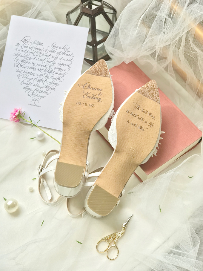 Personalised your Happily Ever After Wedding Shoes by Aveda Footwear - 001