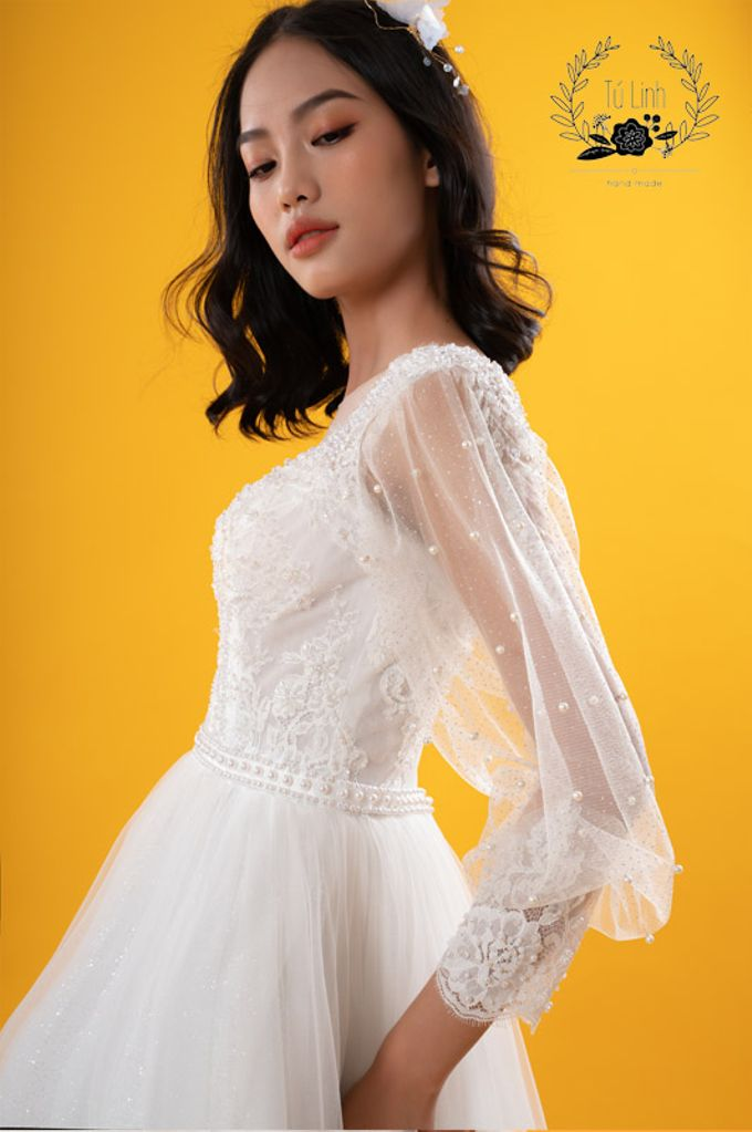 Hand Puffed Wedding Dress by Tu Linh Boutique - 001