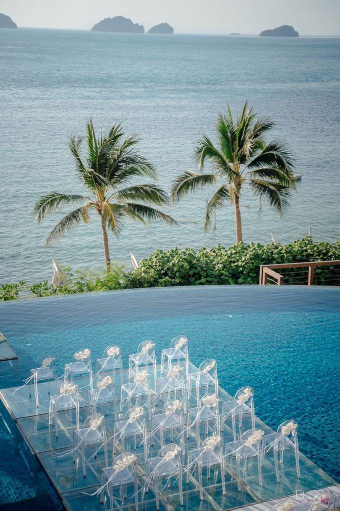 Wedding decoration Bliss events x Weddingism China at Conrad Koh Samui by Conrad Koh Samui - 003