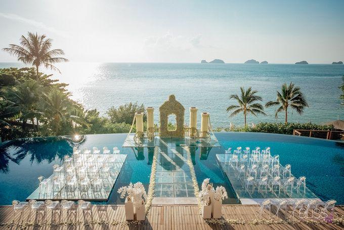 Wedding decoration Bliss events x Weddingism China at Conrad Koh Samui by Conrad Koh Samui - 005