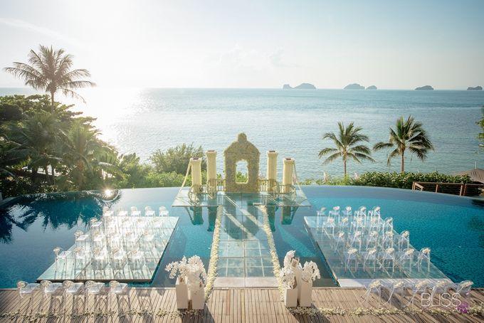 Wedding decoration Bliss events x Weddingism China at Conrad Koh Samui by Conrad Koh Samui - 004