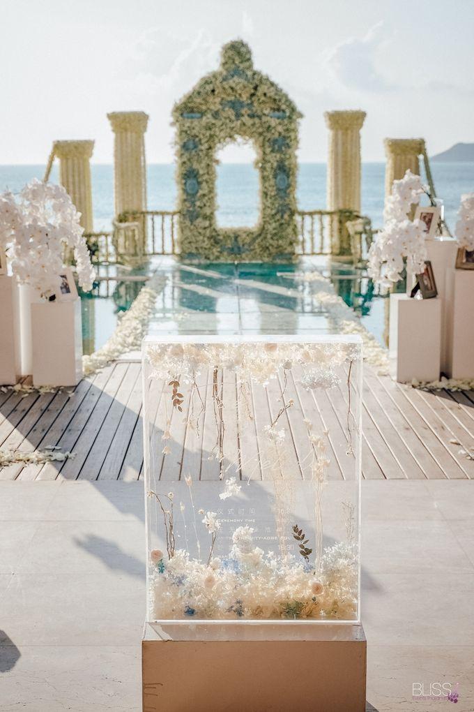 Wedding decoration Bliss events x Weddingism China at Conrad Koh Samui by Conrad Koh Samui - 006