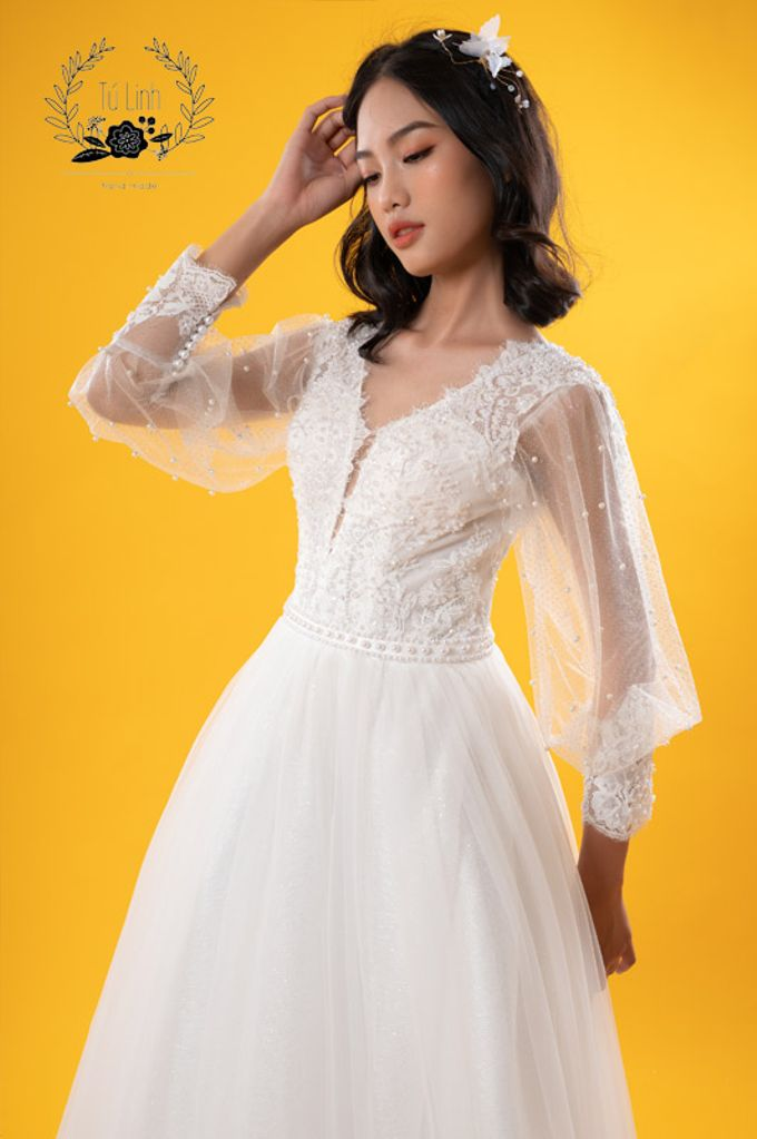 Hand Puffed Wedding Dress by Tu Linh Boutique - 002