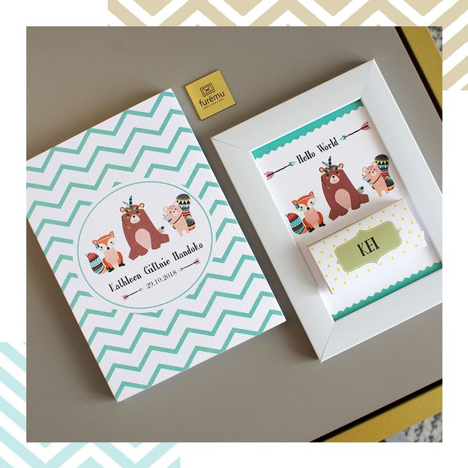 Indian Themed Invitation-Souvenir with Chocolate Bars by Furēmu - 003