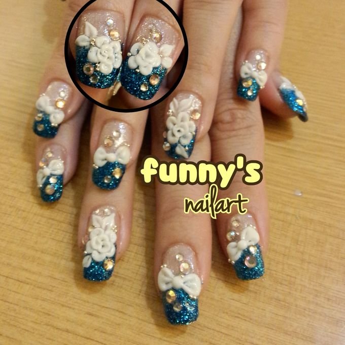 Wedding Nails by Funny\'s Nail art | Bridestory.com