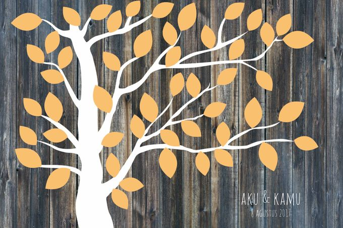 Canvas Guestbook Wedding Artwork ( Tree-01) by Bikinseru.aja - 008