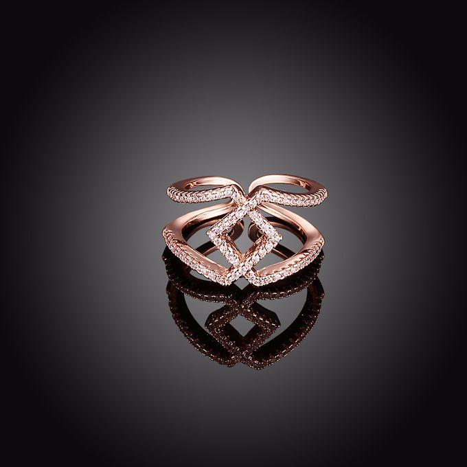 TIARIA Diamond Stack Gold Ring Perhiasan Cincin Emas Berlian by TIARIA - 008