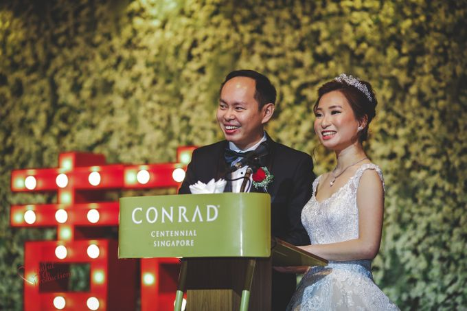 Actual Day Wedding Day Singapore by Conrad Centennial Singapore - 005