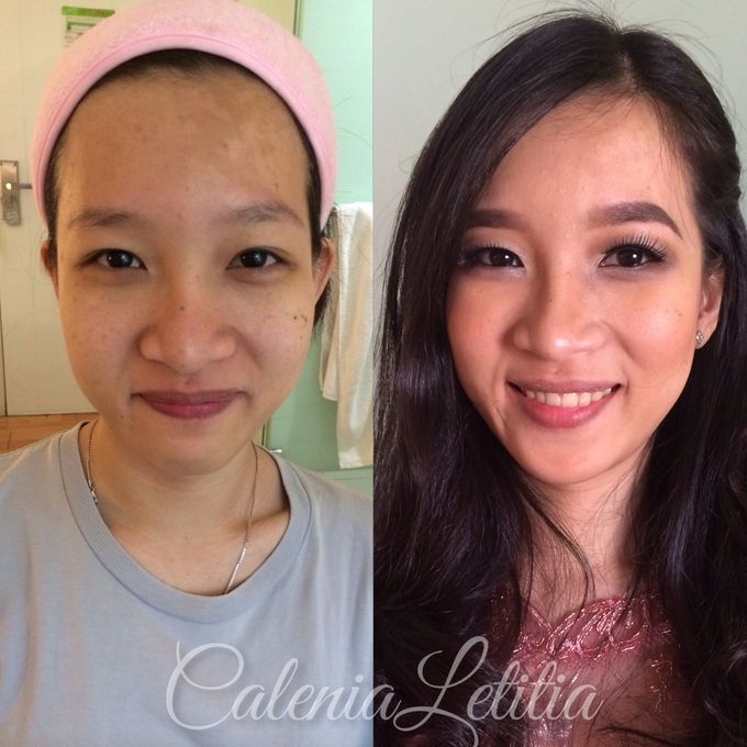 Bridesmaid for Gisella & Adhi Wedding by Calenia Letitia Makeup Artist - 009
