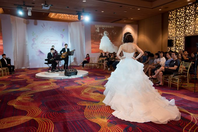 Bridal Gown Fashion Show At Mandarin Orchard Singapore by La Belle Couture Weddings Pte Ltd - 003