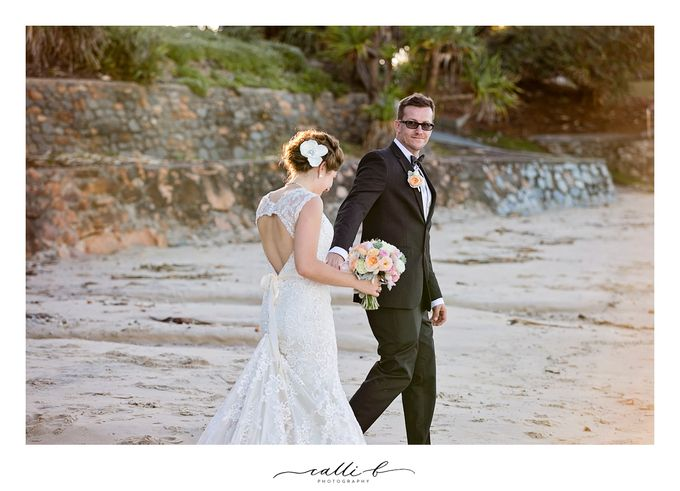 An Ebb wedding with mint and peach by Ginger Lily & Rose Floral Studio - 003