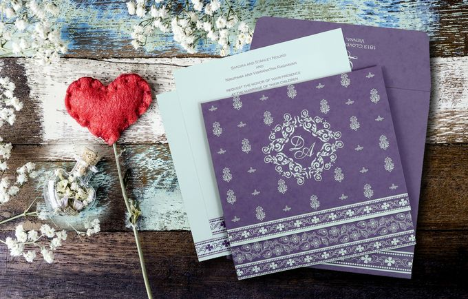 Glitter Shine Wedding Invitation Cards by IndianWeddingCards - 005