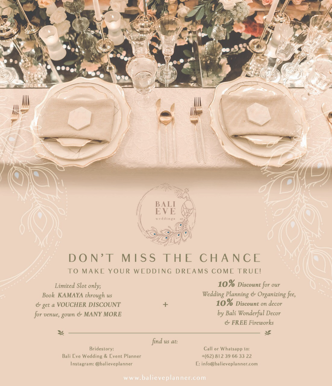 PROMO !  by Bali Eve Wedding & Event Planner - 002
