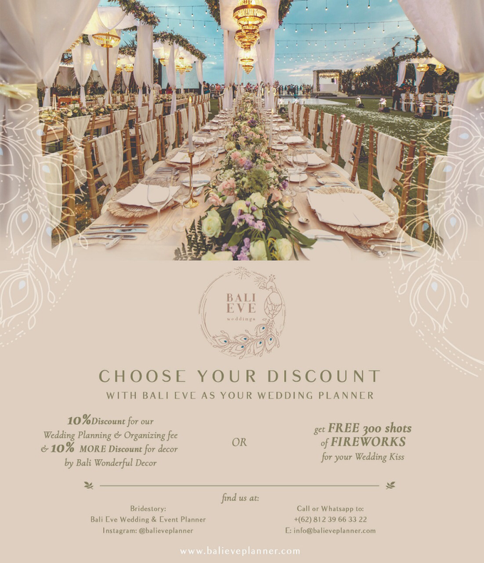 PROMO !  by Bali Eve Wedding & Event Planner - 004