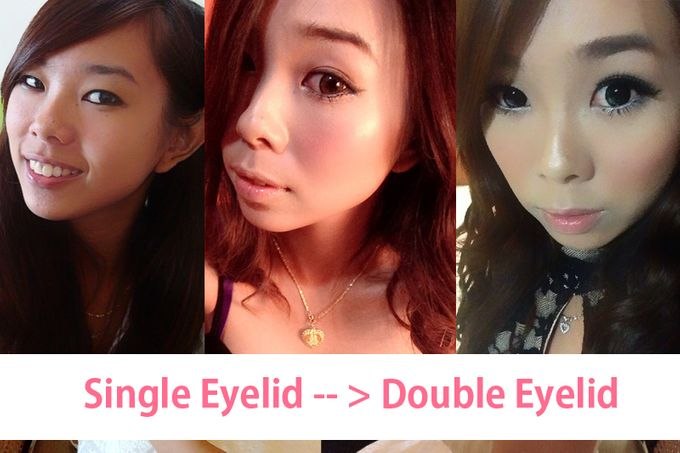 Single into Double Eyelid by Cindy Lin Make Up Artist - 001