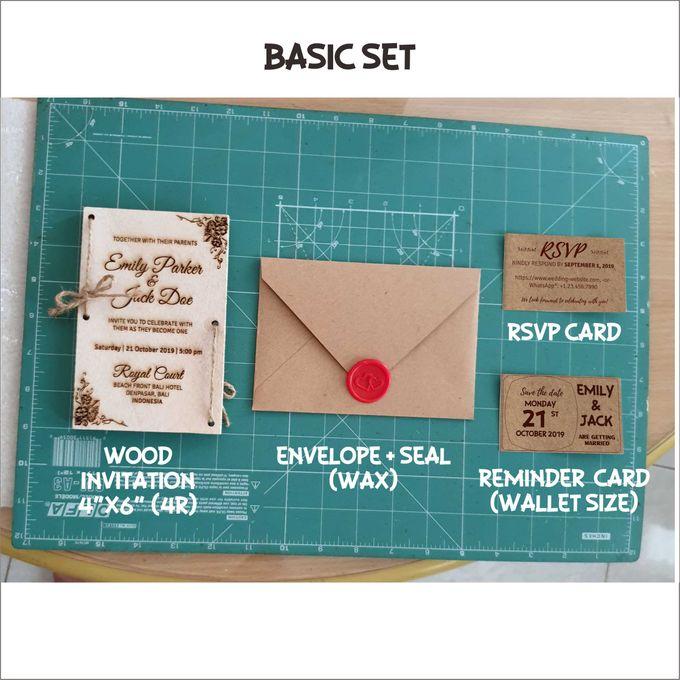 Emily & Jack Wood Invitation Cards by EverlastingID - 002