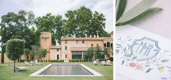 Stunning South of France Chateau Wedding by M&J Photography - 002