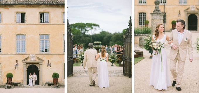 Stunning South of France Chateau Wedding by M&J Photography - 014