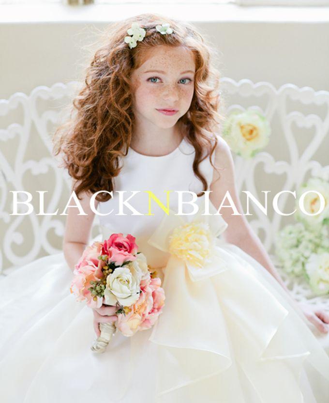 Three Layered Flower Girl Dress by Black N Bianco - 005
