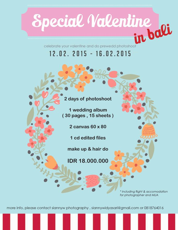 SPECIAL VALENTINE 2015 PROMO PREWEDD PACKAGE by Sianny Widyasari - 001