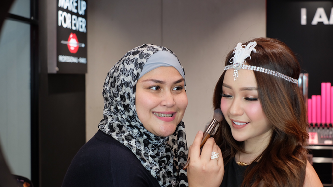 Semi private Makeupclass for Makeup Forever by beautified by santishiva - 006
