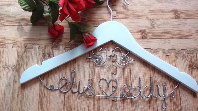 Wedding Hangers with Lovebird Add-On! by Béllicimo Personalized Hanger & Favors - 002