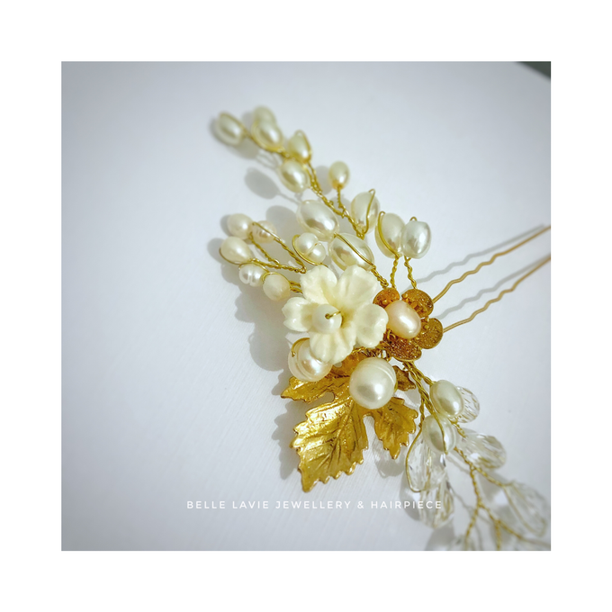 Gold Sakura Hairpin for Ms.Disa by Belle La_vie - 004