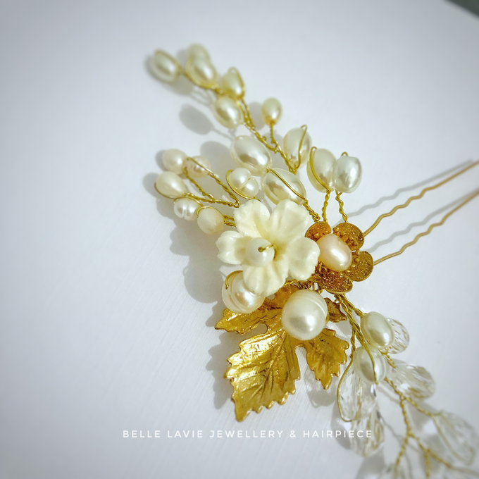Gold Sakura Hairpin for Ms.Disa by Belle La_vie - 001