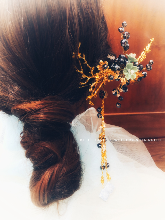 Blue Berry Chinese Hairpin  by Belle La_vie - 001