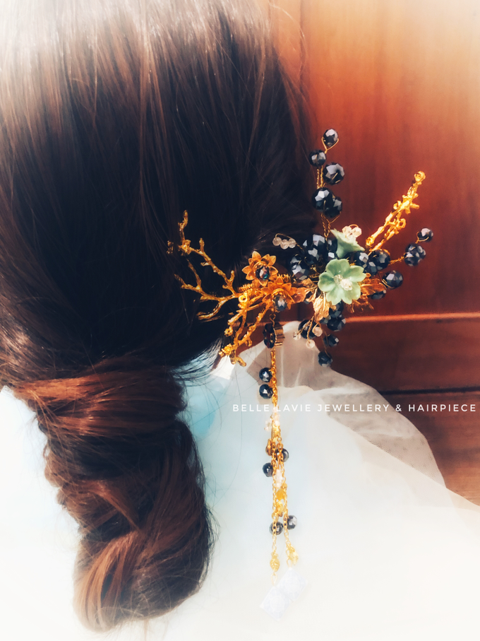 Blue Berry Chinese Hairpin  by Belle La_vie - 002