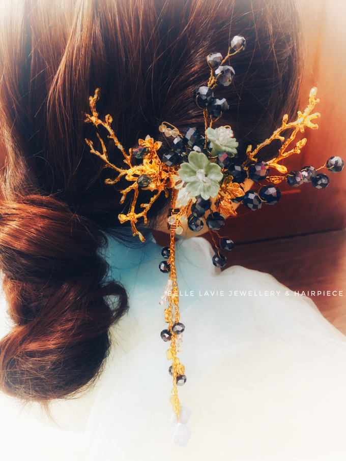 Blue Berry Chinese Hairpin  by Belle La_vie - 003