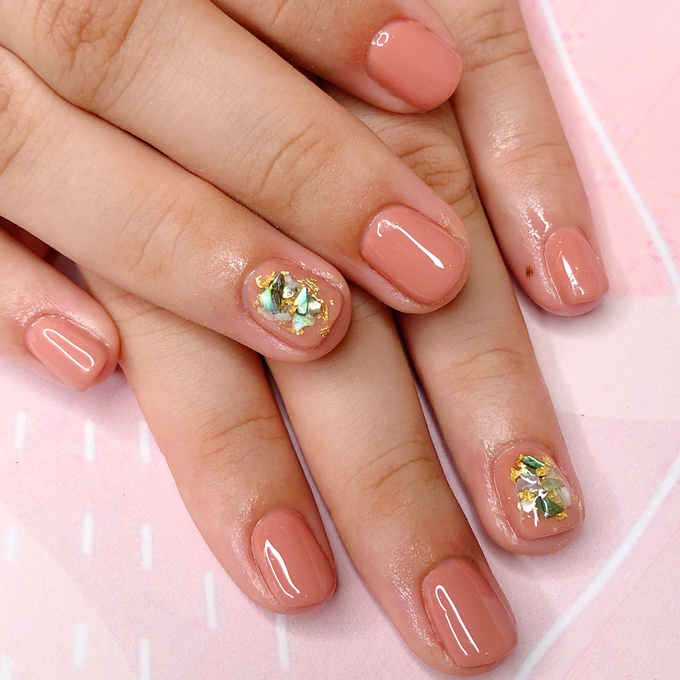 Japanese stone wedding nails by Belleza Nails - 001