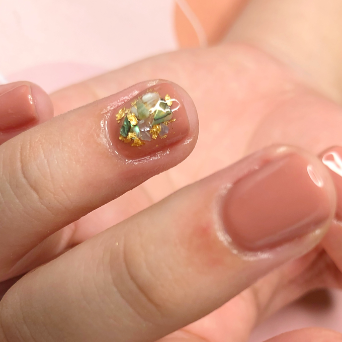 Japanese stone wedding nails by Belleza Nails - 002