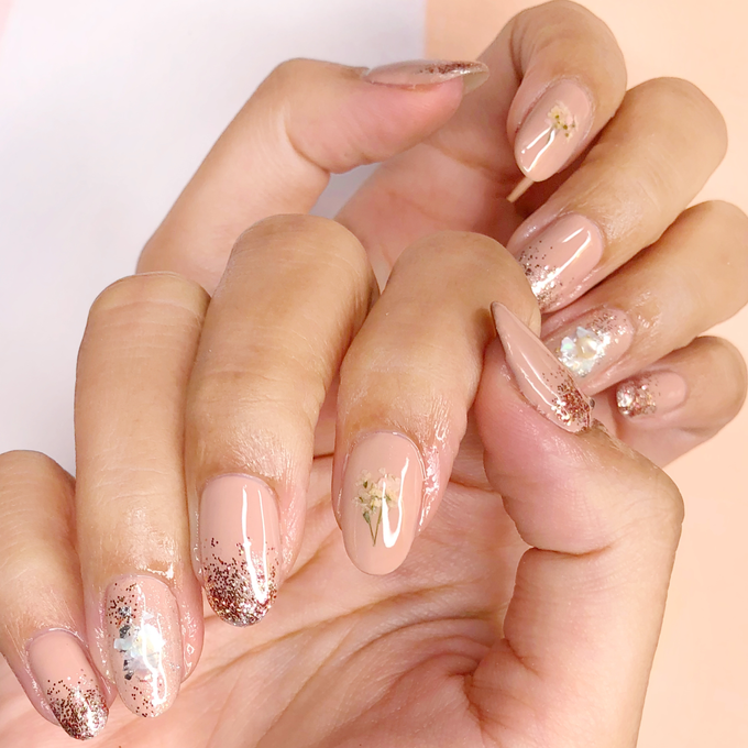 Japanese stone wedding nails by Belleza Nails - 005