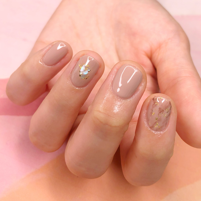 Japanese stone wedding nails by Belleza Nails - 006