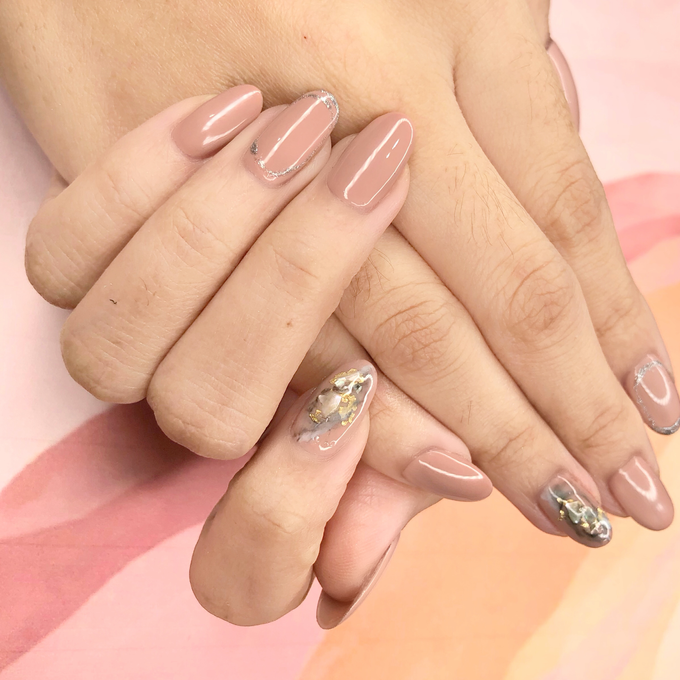 Japanese stone wedding nails by Belleza Nails - 008