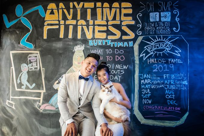 Anytime Fitness Engagement Shoot Singapore by Daniel Sim Photography by The Gown Warehouse - 007