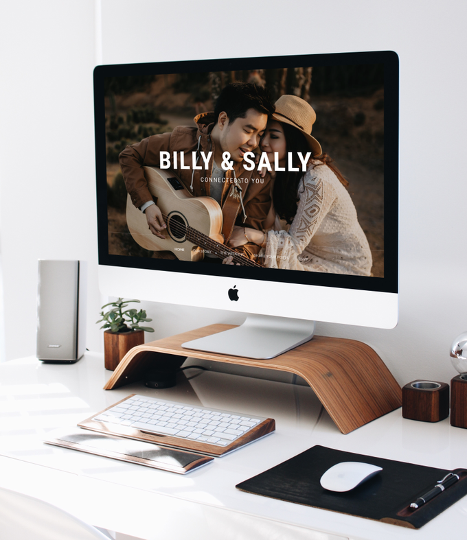 Wedding Website - Billy Simpson and Sally Santoso by Our Days & Co - Wedding Website Design - 001
