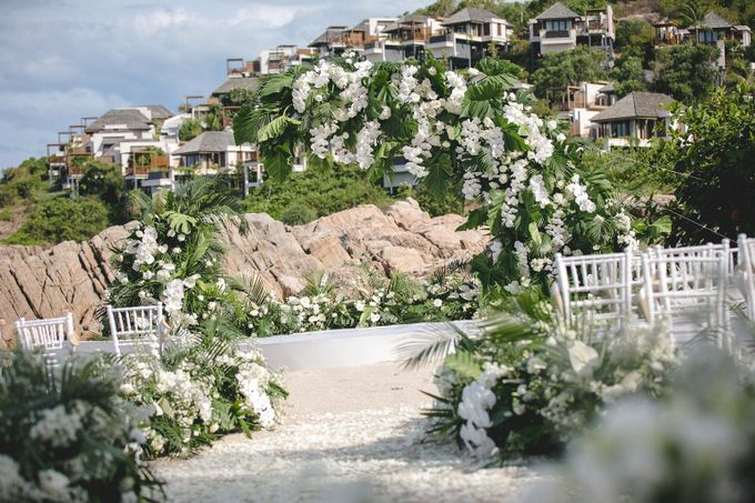 Wedding at The Ritz Carlton Koh Samui Thailand by IAMFLOWER - 001