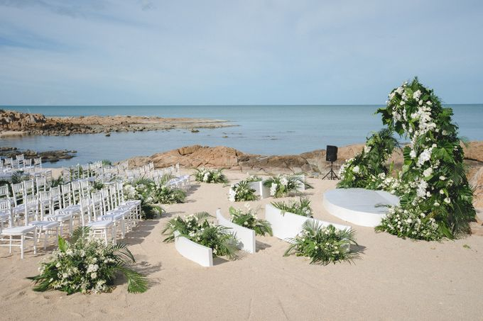 Wedding at The Ritz Carlton Koh Samui Thailand by IAMFLOWER - 002
